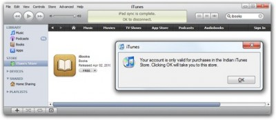 This apple id is only valid for use in french store