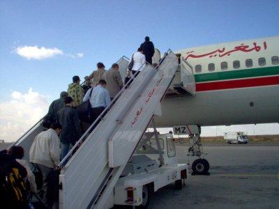 On monte dans l'avion, pour aller à Agadir (Maroc), à l'occasion du GNU/Linux Days 2008