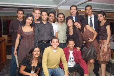 Photo de groupe prise lors du gale du Linux Days 2008