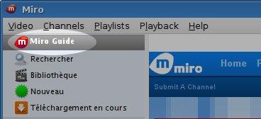Clique sur Miro Guide