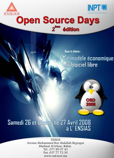 L'affiche des Open Source Days 2008 à l'INPT
