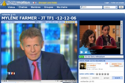 Tf1 sur Dailymotion
