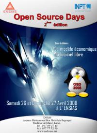 Affiche de l'Open Source Days 2008