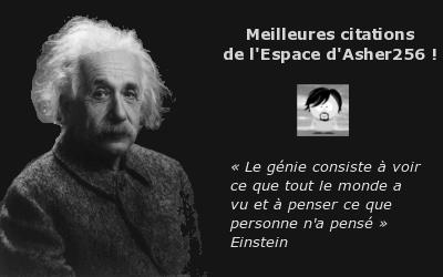 Meilleures citations de l'Espace d'Asher256