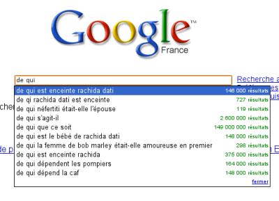 Google Suggest : de qui ?