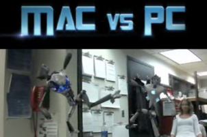 Mac vs. PC, version Transformers avec des Robots