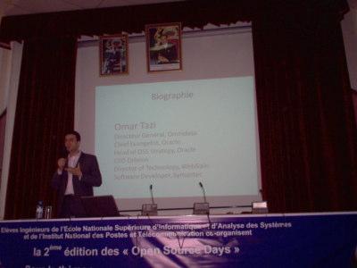Conférence Omar Tazi - gagner argent logiciel libre - Open Source Days 2008