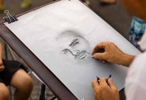 Photofunia : Achraf C. dessiné au crayon
