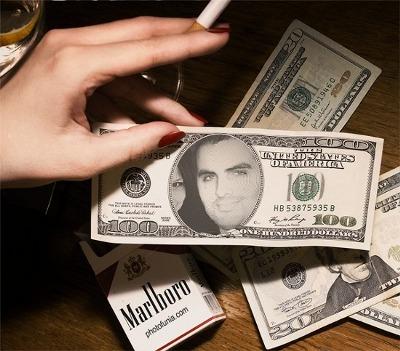 Montage Photofunia : Achraf.c sur un billet de banque des états-unis